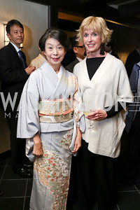 Nobuko Sasae, Coach Kathy Kemper. Photo by Tony Powell. Emperor of Japan Birthday Celebration. Residence of Japan. December 12, 2017