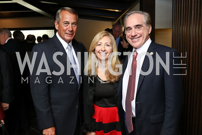 Speaker John Boehner, Merle Shulkin and Sec. David Shulkin. Photo by Tony Powell. Emperor of Japan Birthday Celebration. Residence of Japan. December 12, 2017