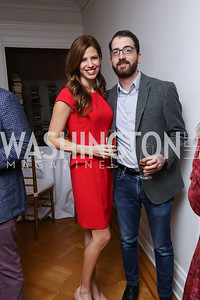 "Michelle Fields, Ben Jacobs. Photo by Tony Powell. ""End of Europe"" Book Party. The Wyoming. March 9, 2017"