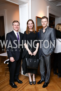 "John McConnell, Juleanna Glover, Matt Kroenig. Photo by Tony Powell. ""End of Europe"" Book Party. The Wyoming. March 9, 2017"