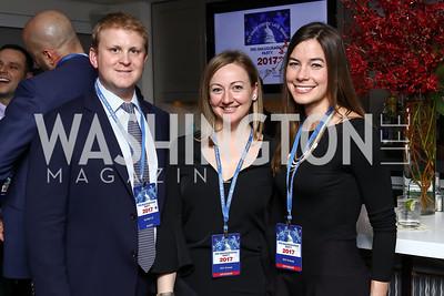 Theo Slagle, Wendy Slagle, Miriam Warren. Photo by Tony Powell. Fly Over States Inaugural Celebration. January 19, 2017