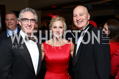 ND Governor Doug Burgum and First Lady Kathryn Burgum, Nebraska Governor Pete Ricketts. Photo by Tony Powell. Fly Over States Inaugural Celebration. January 19, 2017