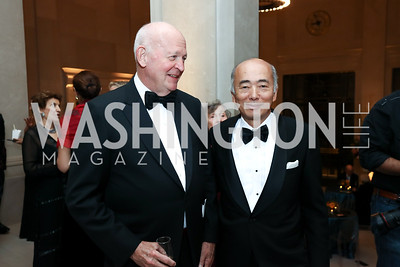 Michael Pillsbury, Japan Amb. Kenichiro Sasae. Photo by Tony Powell. Freer Sackler Reopening. September 14, 2017