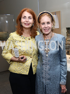 Sana Sabbagh, Ann Nitze. Photo by Tony Powell. Freer Sackler Reopening. September 14, 2017