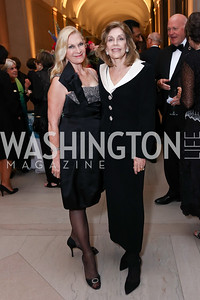 Susan Pillsbury, Dame Jillian Sackler. Photo by Tony Powell. Freer Sackler Reopening. September 14, 2017