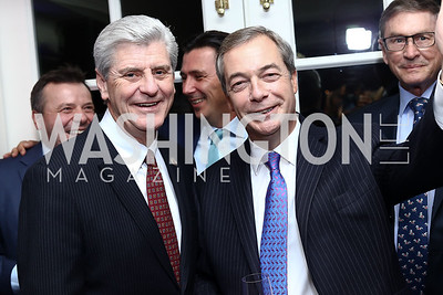 Rep. Phil Bryant, Nigel Farage. Photo by Tony Powell. Goddard Gunster Inaugural Reception. Hay Adams. January 19, 2017