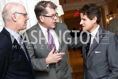 Kevin Chaffee, Steve Clemons, Matt Lauer. Photo by Tony Powell. Goddard Gunster Inaugural Reception. Hay Adams. January 19, 2017