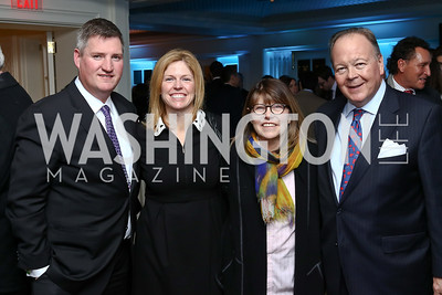 John Feehery, Kerry Feehery, Margaret Carlson, Clifton Rodgers. Photo by Tony Powell. Goddard Gunster Inaugural Reception. Hay Adams. January 19, 2017