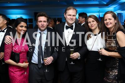 Reena Ninan, Freddy Gray, Paul Wood, Ruth Sherlock, Anslie Stokes. Photo by Tony Powell. Goddard Gunster Inaugural Reception. Hay Adams. January 19, 2017