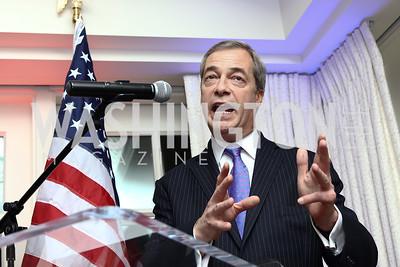 Nigel Farage. Photo by Tony Powell. Goddard Gunster Inaugural Reception. Hay Adams. January 19, 2017