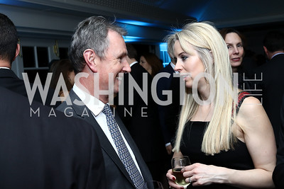 MP Nigel Evans, Isabel Oakeshott. Photo by Tony Powell. Goddard Gunster Inaugural Reception. Hay Adams. January 19, 2017