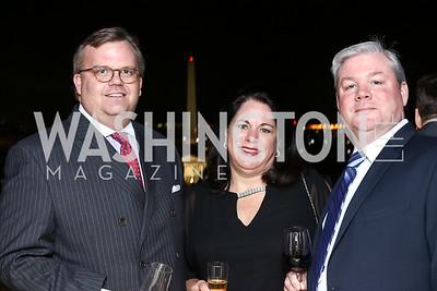 William Black, Karen Harned, Bill Harned. Photo by Tony Powell. Goddard Gunster Inaugural Reception. Hay Adams. January 19, 2017