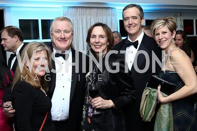 American Beverage Association's Amy Hancock, Bill McManus, CEO Susan Neely, Kevin Keane, Genna Gent. Photo by Tony Powell. Goddard Gunster Inaugural Reception. Hay Adams. January 19, 2017