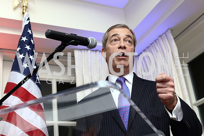 Nigel Farage. Photo by Tony Powell. Goddard Gunster Inaugural Reception. Hay Adams. January 19, 2017