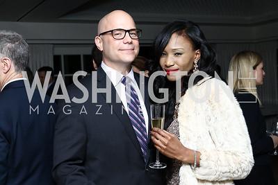 Michael Moran, Gabrielle Dunkley. Photo by Tony Powell. Goddard Gunster Inaugural Reception. Hay Adams. January 19, 2017