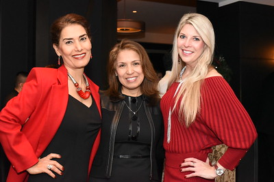 Fari Parm, Diana Villarreal, Carolyn Delaney.  December 5, 2017. Holiday Shopping Experience at Fairfax Square.  Amanda Warden.