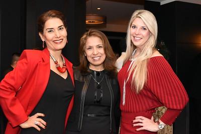 Fari Parm, Diana Villarreal, Carolyn Delaney.  December 5, 2017. Holiday Shopping Experience at Fairfax Square.  Amanda Warden.