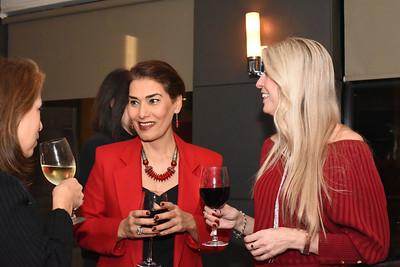 Diana Villarreal, Fari Parm, Carolyn Delaney.  December 5, 2017. Holiday Shopping Experience at Fairfax Square.  Amanda Warden.