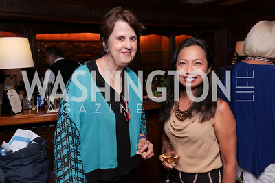 Mary Josie Blanchard, Carmen Liebeler. Photo by Tony Powell. 2017 IAR Cocktails for a Cause. George Town Club. July 27, 2017