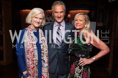 Caroline Croft, John Stiner, Deborah Sigmund. Photo by Tony Powell. 2017 IAR Cocktails for a Cause. George Town Club. July 27, 2017