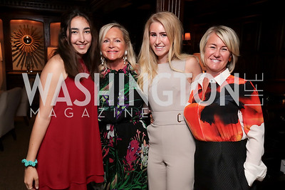 Kimia Khatibi, Deborah Sigmund, Isabella and Staci Capuano. Photo by Tony Powell. 2017 IAR Cocktails for a Cause. George Town Club. July 27, 2017