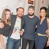 Rebecca Onbb, Mekki Karrakchou, Jason Zuccari, Kenya Pierce,  INGLOT Pre-Launch Party at Filippo Champagne Lounge.  September 21, 2017.  Photo by Ben Droz