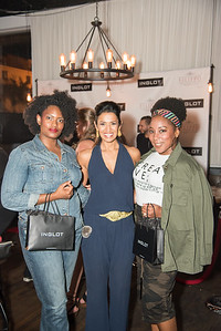 Ondia Butler, Kenya Pierce, Sommar Theodore, INGLOT Pre-Launch Party at Filippo Champagne Lounge.  September 21, 2017.  Photo by Ben Droz