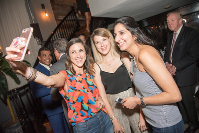 Ashlee Hightower, Victoria Leviton, Monica Dutia, INGLOT Pre-Launch Party at Filippo Champagne Lounge.  September 21, 2017.  Photo by Ben Droz