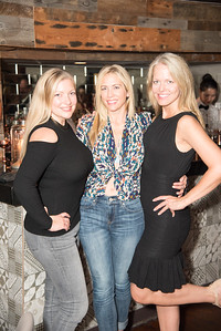 Laura Engelbrecht, Brandi Halleckson, Ann Heile,  INGLOT Pre-Launch Party at Filippo Champagne Lounge.  September 21, 2017.  Photo by Ben Droz