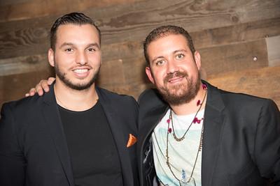 Hamza Hadani, Mekki Karrakchou, INGLOT Pre-Launch Party at Filippo Champagne Lounge.  September 21, 2017.  Photo by Ben Droz