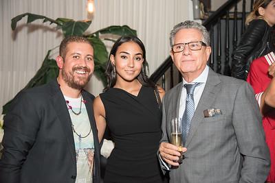 Mekki Karrakchou, Manal Tellal, Larbi R'MIKI,  INGLOT Pre-Launch Party at Filippo Champagne Lounge.  September 21, 2017.  Photo by Ben Droz