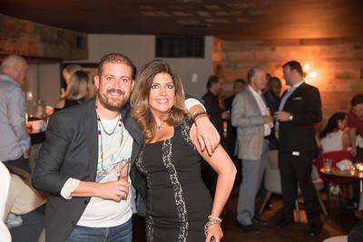 Mekki Karrakchou, Elizabeth Webster, INGLOT Pre-Launch Party at Filippo Champagne Lounge.  September 21, 2017.  Photo by Ben Droz