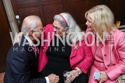 Former VP Joe Biden, Esther Coopersmith, Susan Blumenthal. Photo by Tony Powell. Intl. Student House 2017 Global Leadership Awards. October 4, 2017