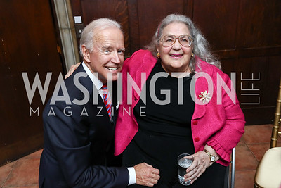 Former VP Joe Biden, Esther Coopersmith. Photo by Tony Powell. Intl. Student House 2017 Global Leadership Awards. October 4, 2017