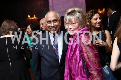 Frank Islam and Debbie Driesman. Photo by Tony Powell. Intl. Student House 2017 Global Leadership Awards. October 4, 2017