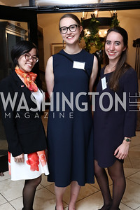 Dominique Dulay, Sara Sandström, Sixtine Gossellin. Photo by Tony Powell. Intl. Student House 2017 Global Leadership Awards. October 4, 2017