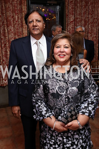 Ray and Shaista Mahmood. Photo by Tony Powell. Intl. Student House 2017 Global Leadership Awards. October 4, 2017