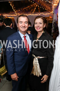 Rep. Ed Royce and Marie Royce. Photo by Tony Powell. Intl. Student House 2017 Global Leadership Awards. October 4, 2017