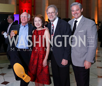 Ben Cohen, Sachiko Kuno, Jerry Greenfield, Mark Lowham. Photo by Tony Powell. Inaugural Halcyon Awards. Union Station. May 20, 2017