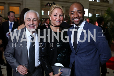 Charles Azarpour, Andrea Rinaldi, Brandon Clay. Photo by Tony Powell. Inaugural Halcyon Awards. Union Station. May 20, 2017