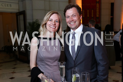 Ulla Rønberg and Denmark Amb. Lars Gert Lose. Photo by Tony Powell. Inaugural Halcyon Awards. Union Station. May 20, 2017