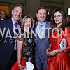Chris Morrison, Connie Carter, Michael Olding, Kosovo Amb. Vlora Citaku. Photo by Tony Powell. Inaugural Halcyon Awards. Union Station. May 20, 2017