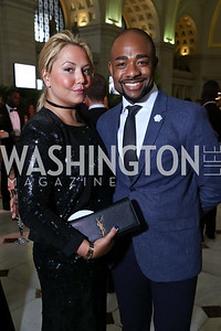 Andrea Rinaldi, Brandon Clay. Photo by Tony Powell. Inaugural Halcyon Awards. Union Station. May 20, 2017