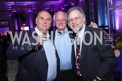 Jose Andres, Ben Cohen, Jerry Greenfield. Photo by Tony Powell. Inaugural Halcyon Awards. Union Station. May 20, 2017