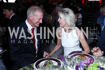 Jack Evans, Mary Haft. Photo by Tony Powell. Inaugural Halcyon Awards. Union Station. May 20, 2017