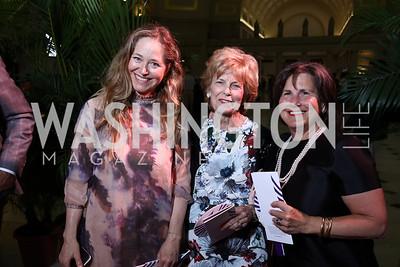 Nancy Reynolds Bagley, Bitsey Folger, Nancy Smith. Photo by Tony Powell. Inaugural Halcyon Awards. Union Station. May 20, 2017