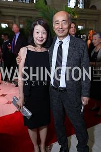 Nobuko Sasae and  Japan Amb. Kenichiro Sasae. Photo by Tony Powell. Inaugural Halcyon Awards. Union Station. May 20, 2017