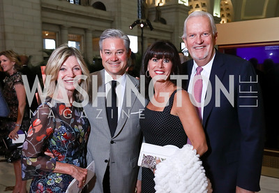 Kay Kendall, Mark Lowham, Michelle Freeman, Jack Davies. Photo by Tony Powell. Inaugural Halcyon Awards. Union Station. May 20, 2017