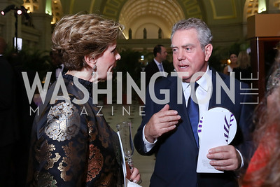Juleanna May, Theo Adamstein. Photo by Tony Powell. Inaugural Halcyon Awards. Union Station. May 20, 2017
