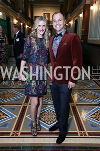 Ashley and Matt Bronczek. Photo by Tony Powell. Inaugural Monkey Ball. Kogod Courtyard. September 28, 2017